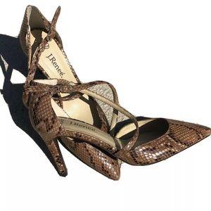NWT J.Renee Snake Print Heels